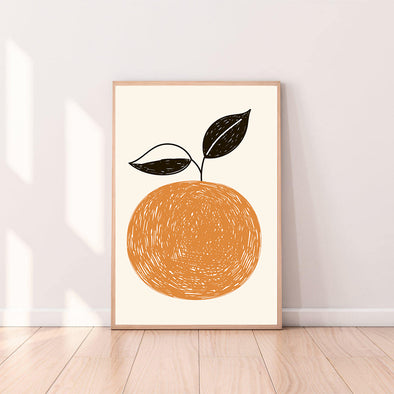 Wall Art Clementine color_tangerine