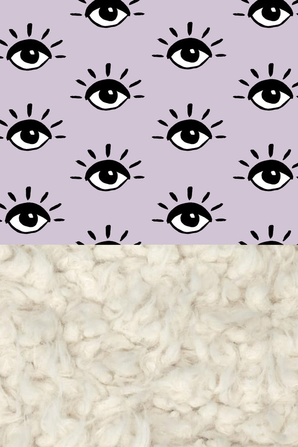 Woolf With Me Organic Baby Blanket Eyes color_lavender