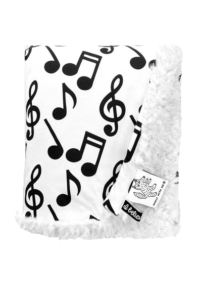 Organic Baby Blanket Musical Notes