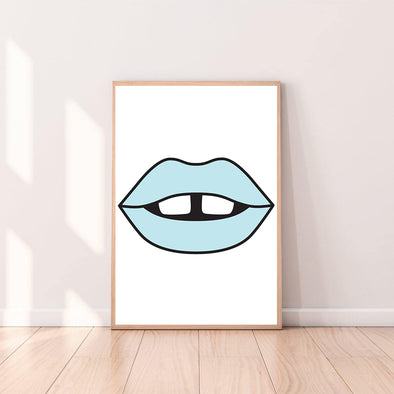 Wall Art Lips color_pale-blue