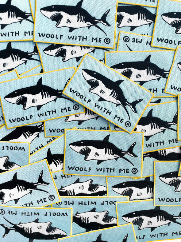 Shark Embroidery Patch // Same Day Shipping!