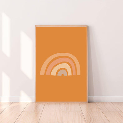 Wall Art Rainbow color_tangerine