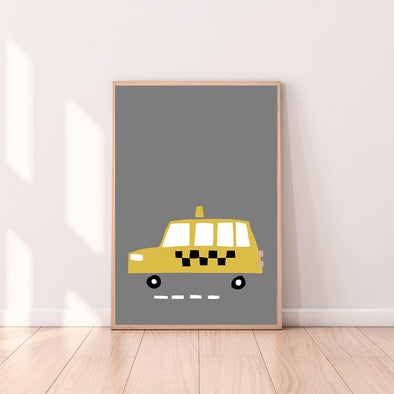 Wall Art Taxi color_mustard