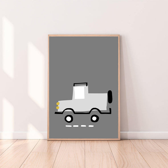 Wall Art Truck color_light-gray