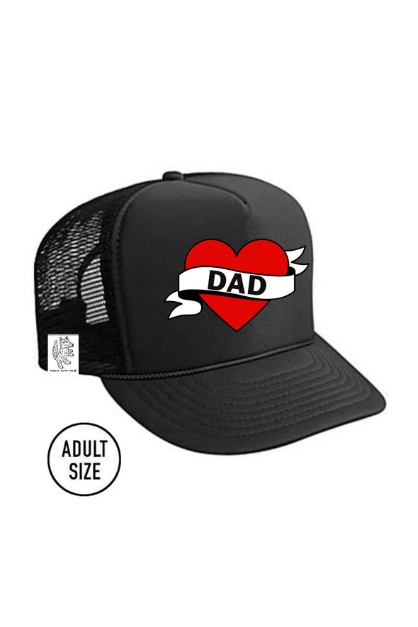 ADULT Trucker Hat Dad // Same Day Shipping! color_black
