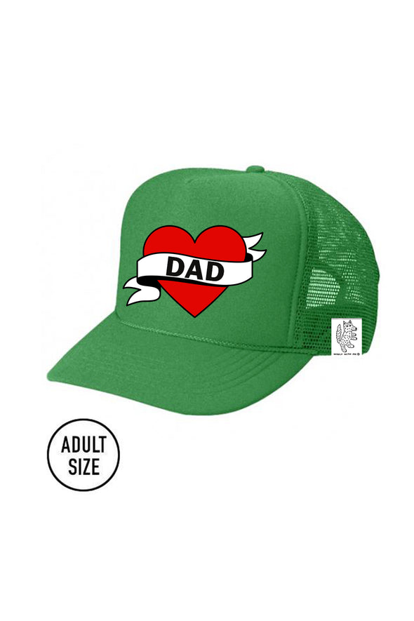 ADULT Trucker Hat Dad // Same Day Shipping! color_kelly-green