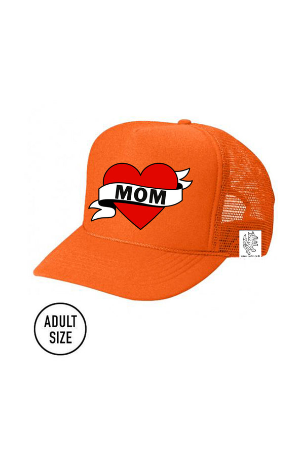 ADULT Trucker Hat Mom (NEON ORANGE) Same Day Shipping! color_orange