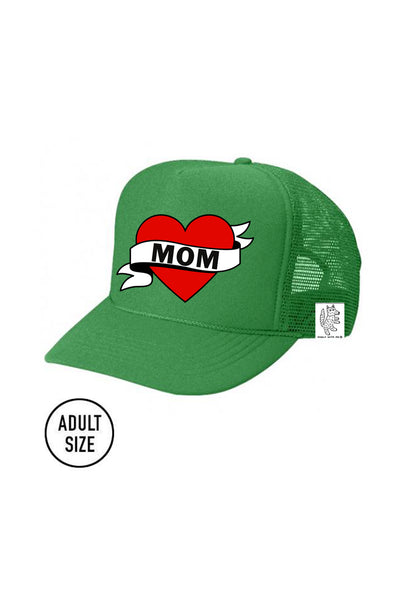 ADULT Trucker Hat Mom // Same Day Shipping! color_kelly-green