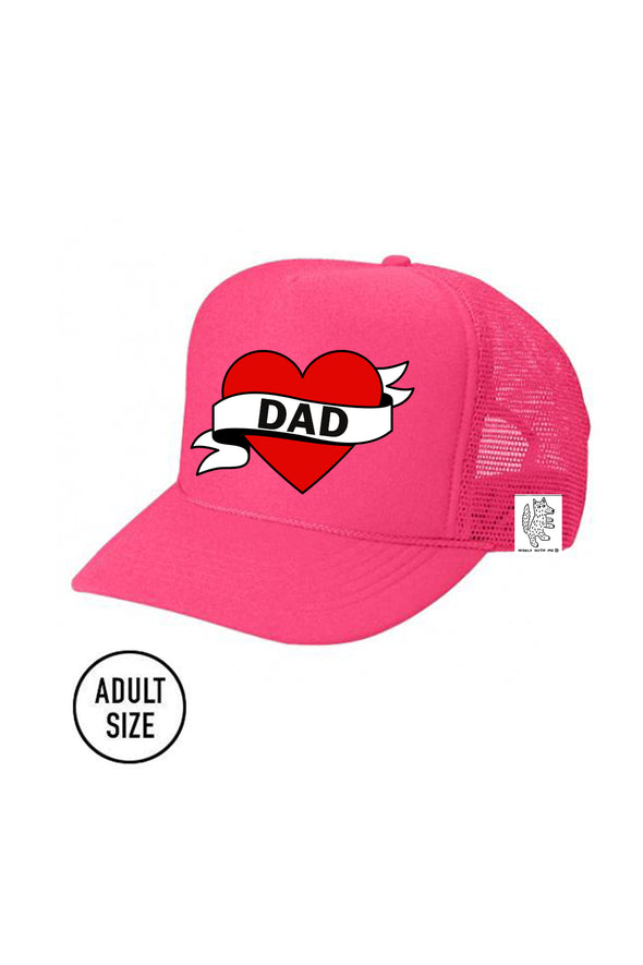 ADULT Trucker Hat Dad (NEON PINK) Same Day Shipping! color_pink