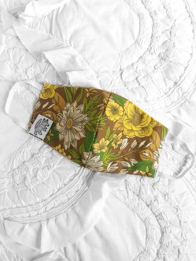 Face Mask 60s Floral (Child-Adult) Same Day Shipping!