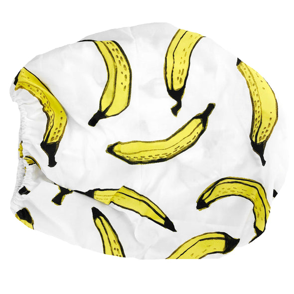 Woolf With Me Organic Changing Pad Cover Bananas color_white