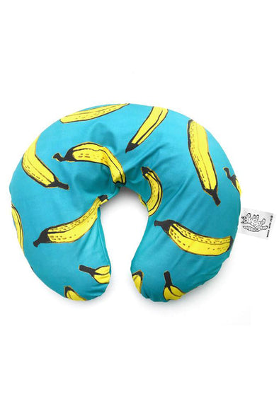 Woolf With Me Boppy Nursing Pillow Cover Bananas color_aqua