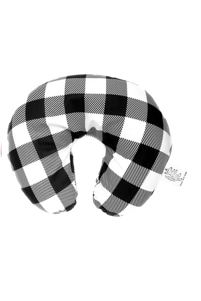 Woolf With Me Organic Boppy Nursing Pillow Cover Large Buffalo Check color_black