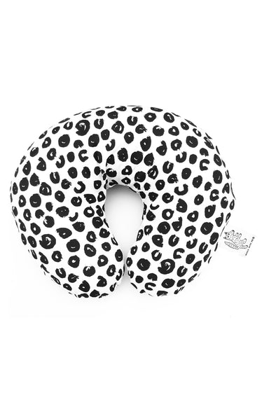 Woolf With Me Organic Boppy Nursing Pillow Cover Ink Spots color_black