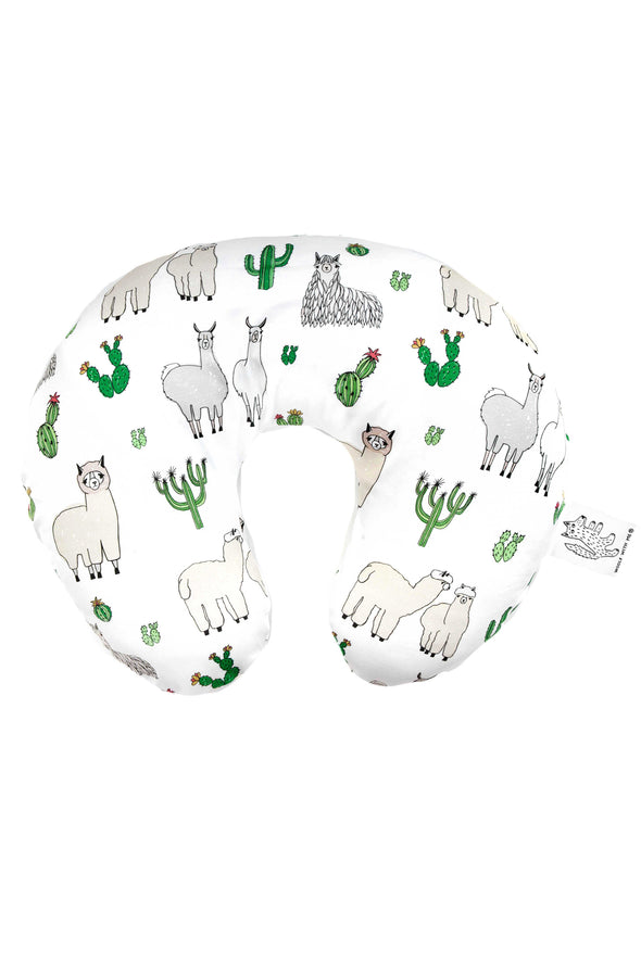 Woolf With Me Organic Boppy Nursing Pillow Cover Llama color_white