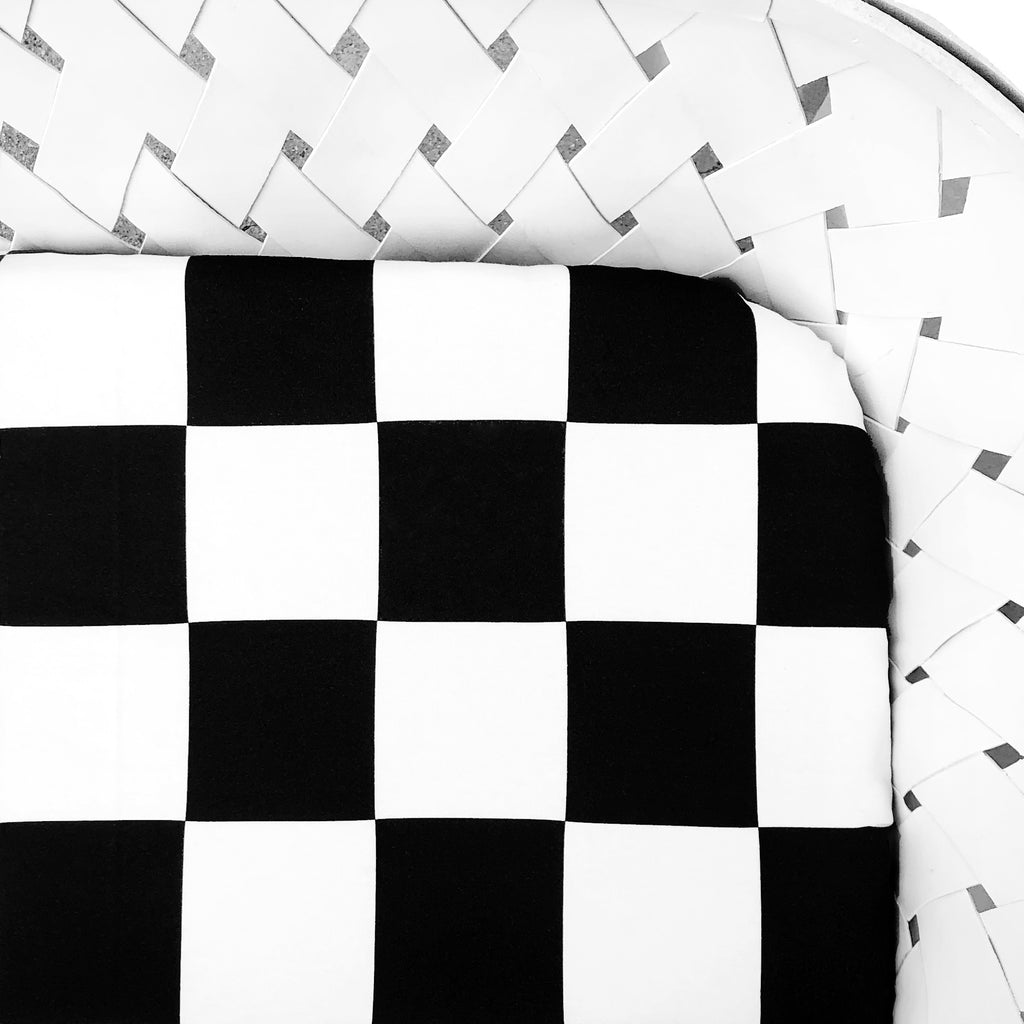 Organic Crib Sheet Checkered Print