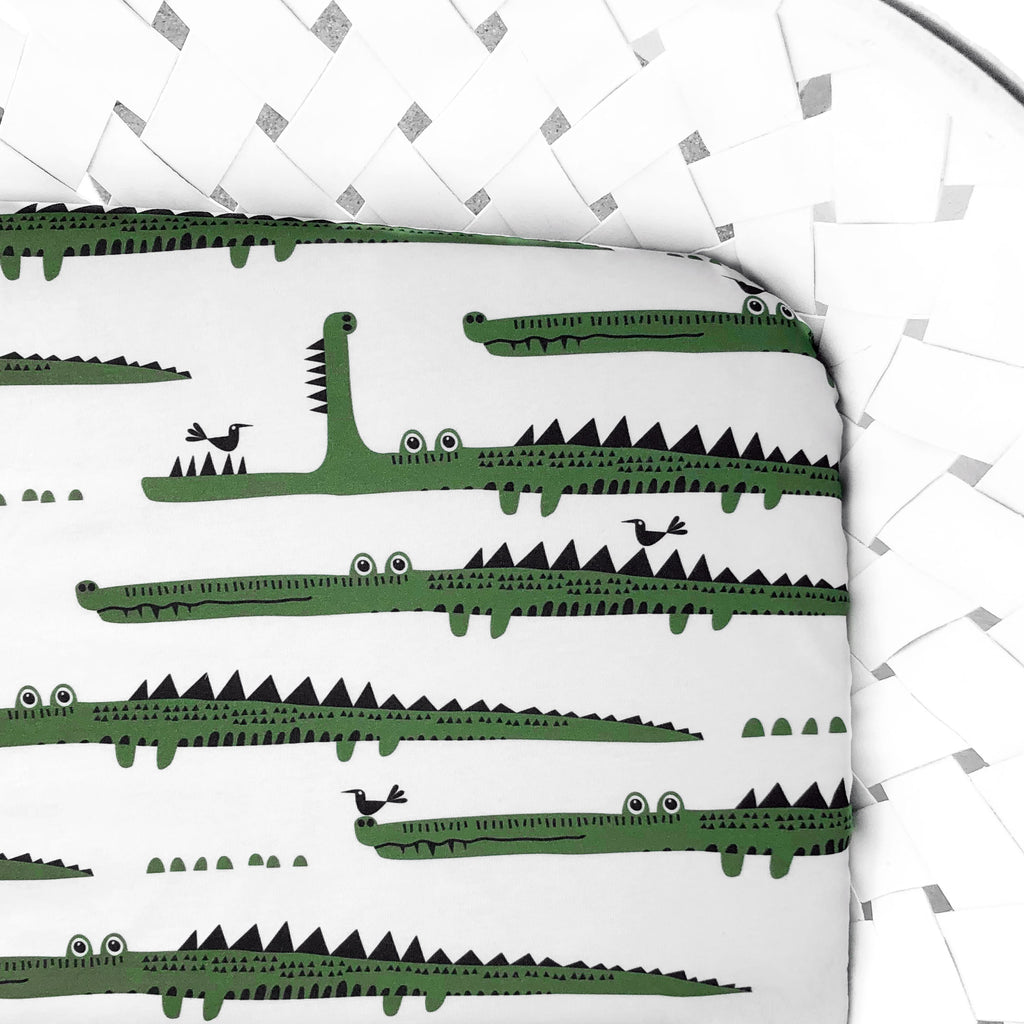 Organic Crib Sheet Alligator