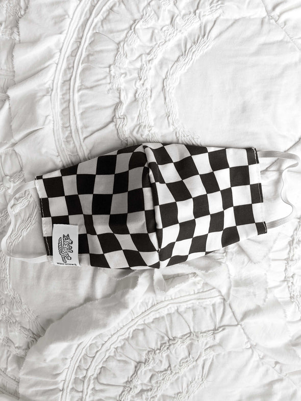 Face Mask Checkered (Child-Adult) Same Day Shipping!