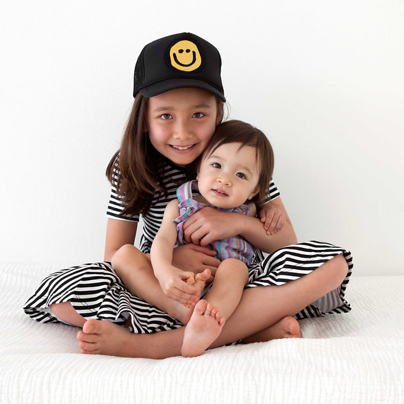TODDLER Trucker Hat Happy Face 2Y-4Y // Same Day Shipping!