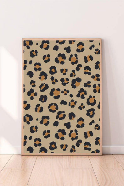 Wall Art Leopard Print color_charcoal