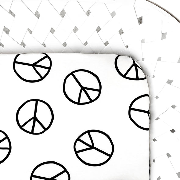 Organic Crib Sheet Peace Sign