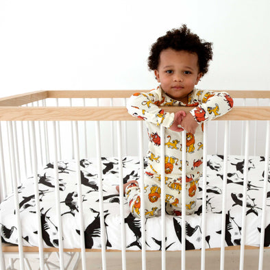 Woolf With Me Fitted Crib Sheet Shark color_black