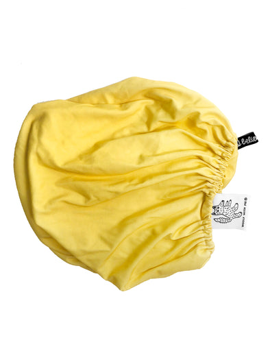 Woolf With Me Fitted Crib Sheet Solid Color color_primrose-yellow