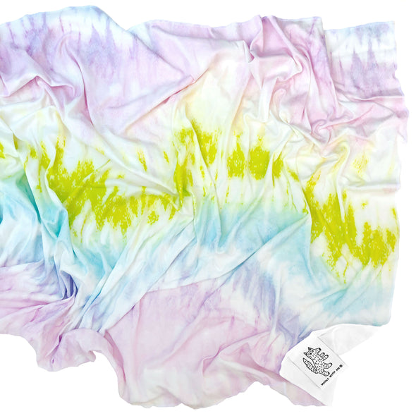 Woolf With Me Organic Swaddle Blanket Tie Dye color_rose-quartz