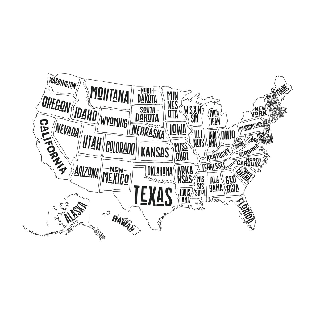 Organic Crib Sheet United States of America Map