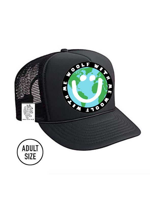 PREORDER, ADULT Trucker Hat Mother Earth/Happy Face