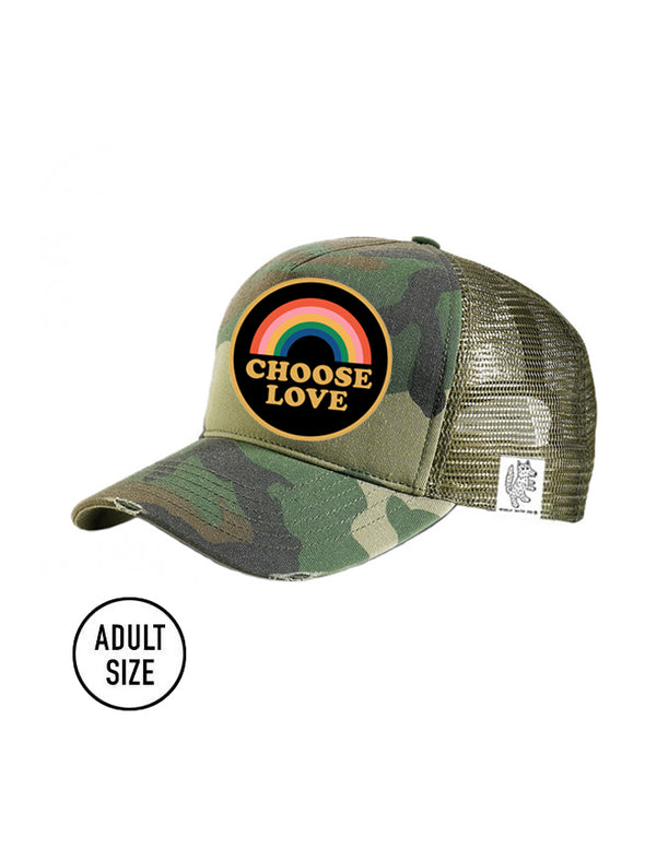 ADULT Trucker Hat Camouflage, Choose Love // Same Day Shipping!