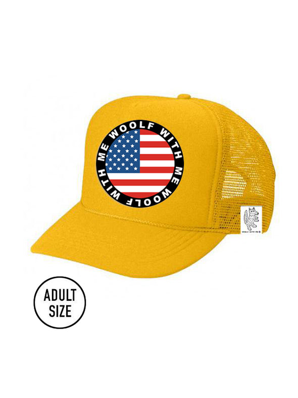 PREORDER, ADULT Trucker Hat USA Flag