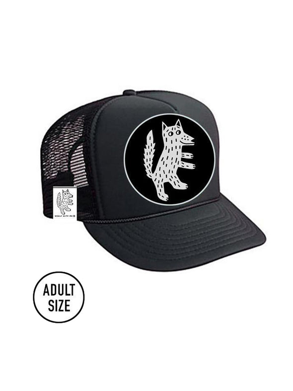 ADULT Trucker Hat Wolf // Same Day Shipping!