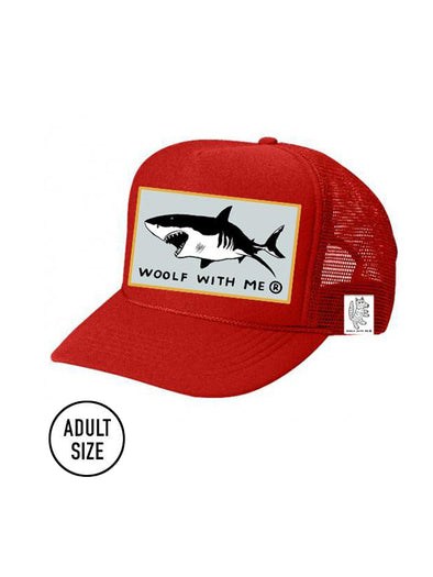 ADULT Trucker Hat Shark // Same Day Shipping!