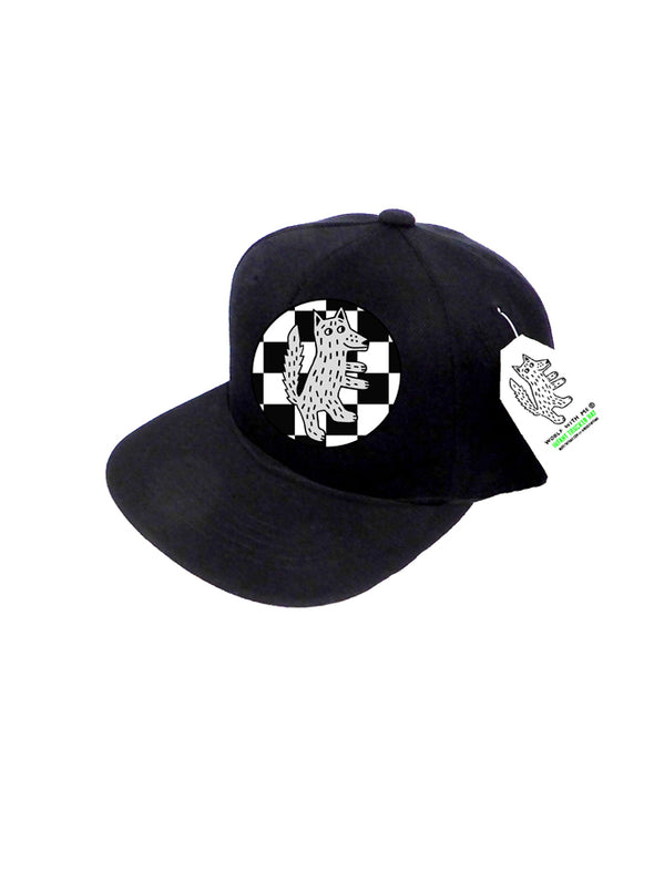 INFANT Trucker Hat Wolf Checkered - 0M-12M // Same Day Shipping!