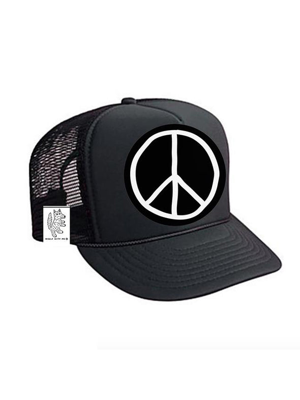 KIDS Trucker Hat Peace Sign 5Y-10Y // Same Day Shipping!
