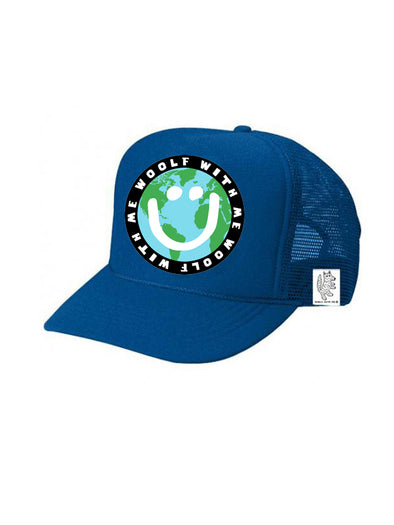TODDLER Trucker Hat Mother Earth/Happy Face 2Y-4Y // Same Day Shipping!