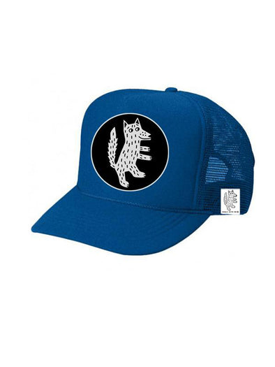 KIDS Trucker Hat Wolf 5Y-10Y // Same Day Shipping!