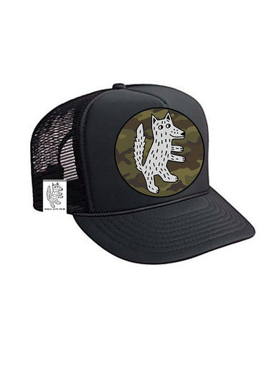 TODDLER Trucker Hat Wolf Camouflage 2Y-4Y // Same Day Shipping!