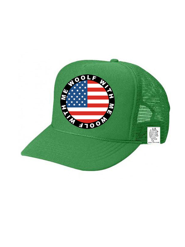 PREORDER, KIDS Trucker Hat USA Flag 5Y-10Y