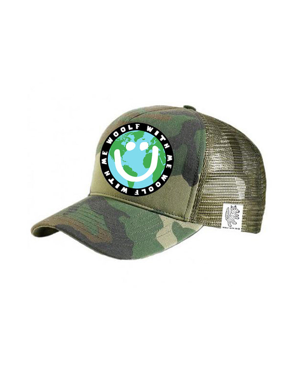 PREORDER, TODDLER Trucker Hat Mother Earth/Happy Face 2Y-4Y