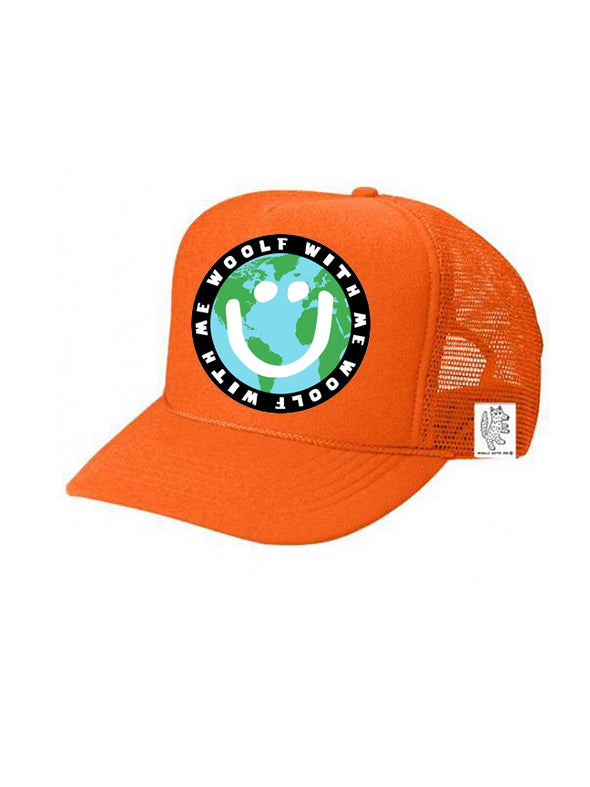 PREORDER, KIDS Trucker Hat Mother Earth/Happy Face 5Y-10Y