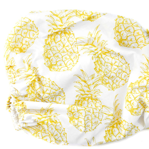 Organic Changing Pad Cover Pineapple - Woolf With Me® - 1