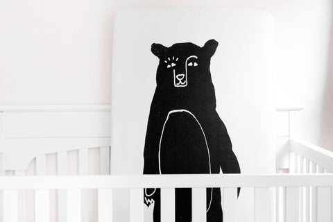 Organic Crib Sheet Bear Bear - Woolf With Me® - 1