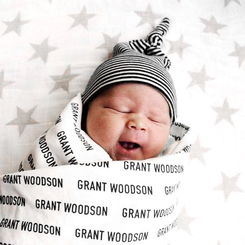 Organic Personalized Swaddle Blanket - Woolf With Me® - 1
