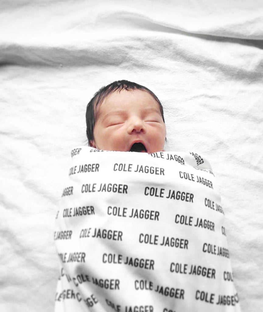 Organic Personalized Swaddle Blanket - Woolf With Me® - 2