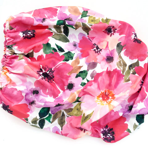 Organic Changing Pad Cover Watercolor Flowers - Woolf With Me®