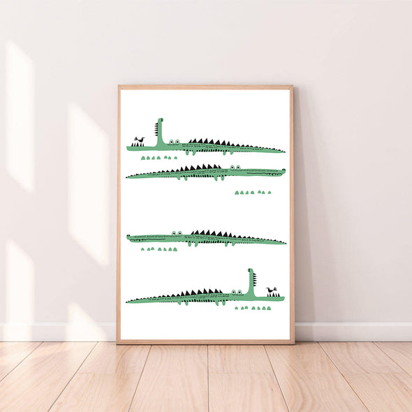 Wall Art Alligator color_kelly-green