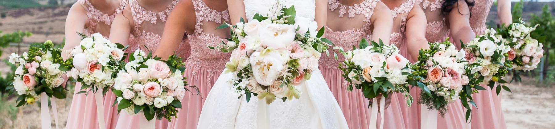 Blush Pink Wedding Flowers by Ruby Blooms