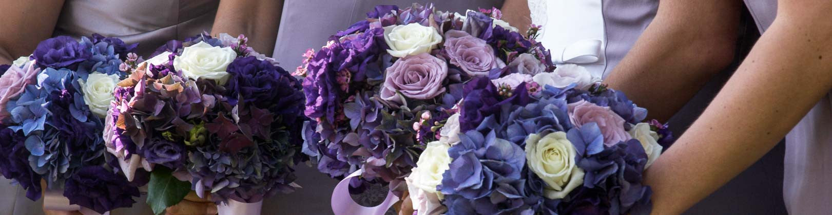 Purple Bridal Flowers and Wedding Arrangements in San Diego